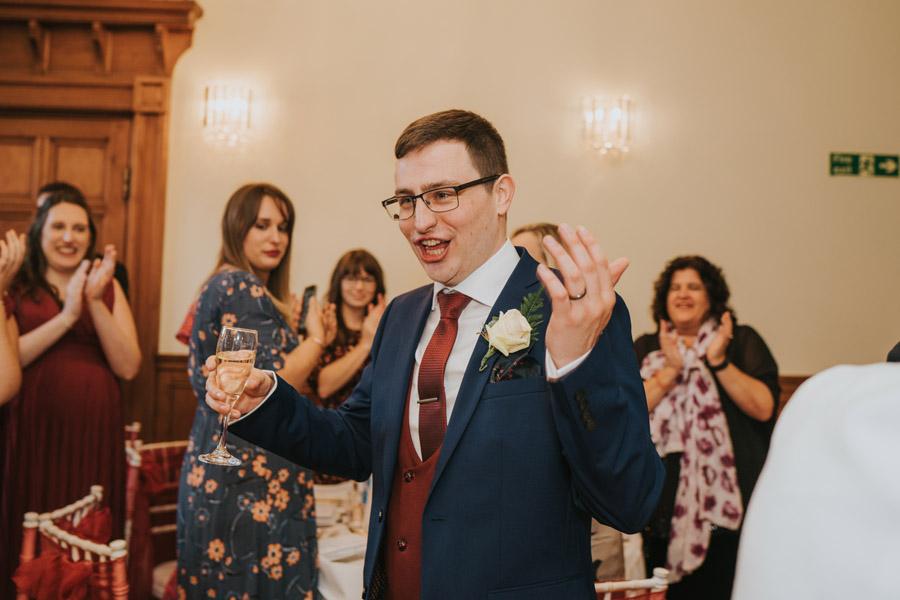 Mark & Philippa's joyful Holmewood Hall wedding, with Grace Elizabeth (41)