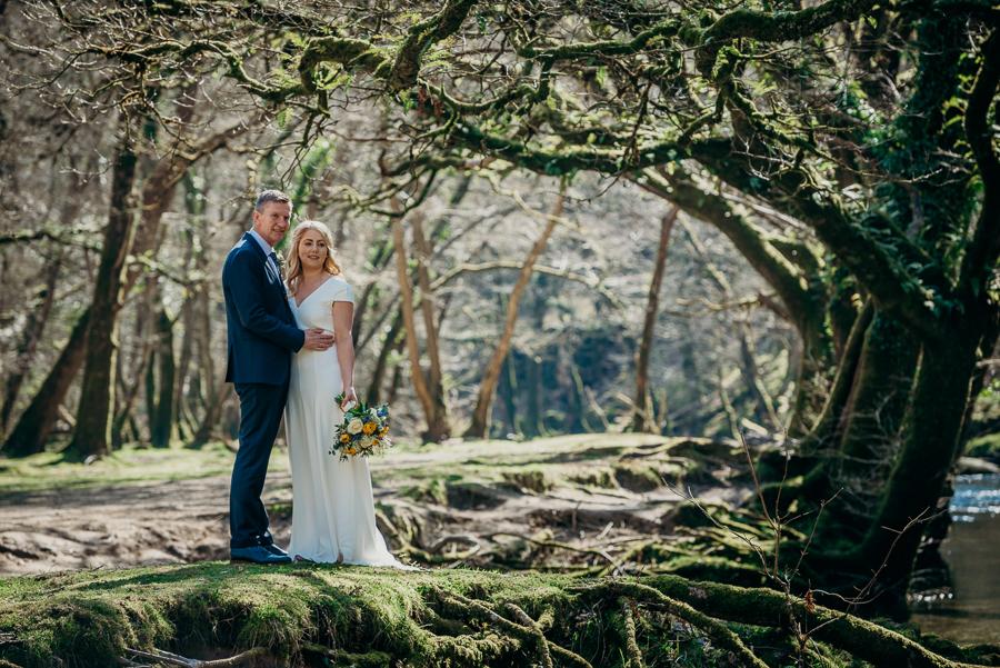 Pippa & David's joyful spring elopement in Dartmoor, photo credit Clare Kinchin (7)