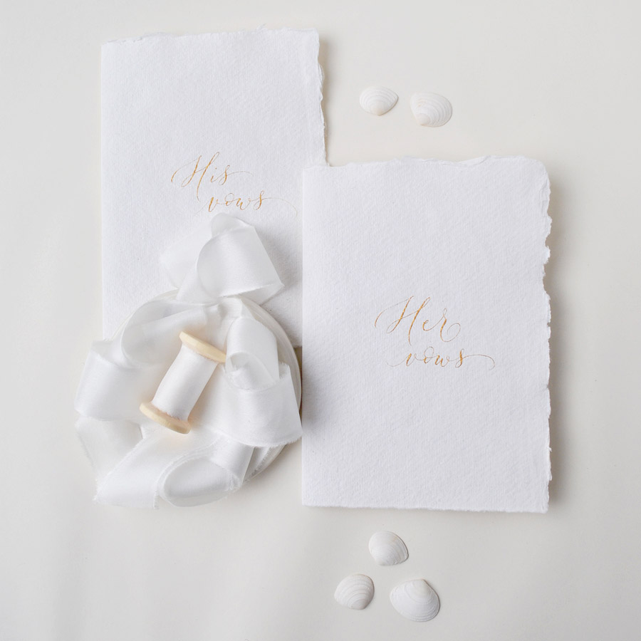 Calligraphy for weddings in the UK, Claire Gould calligrapher By Moon and Tide (1)