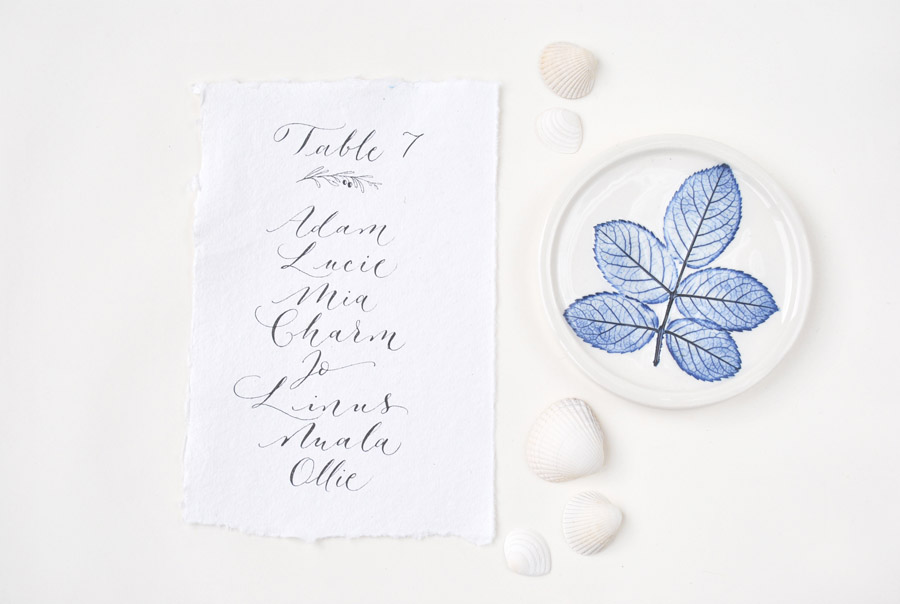 Calligraphy for weddings in the UK, Claire Gould calligrapher By Moon and Tide (7)