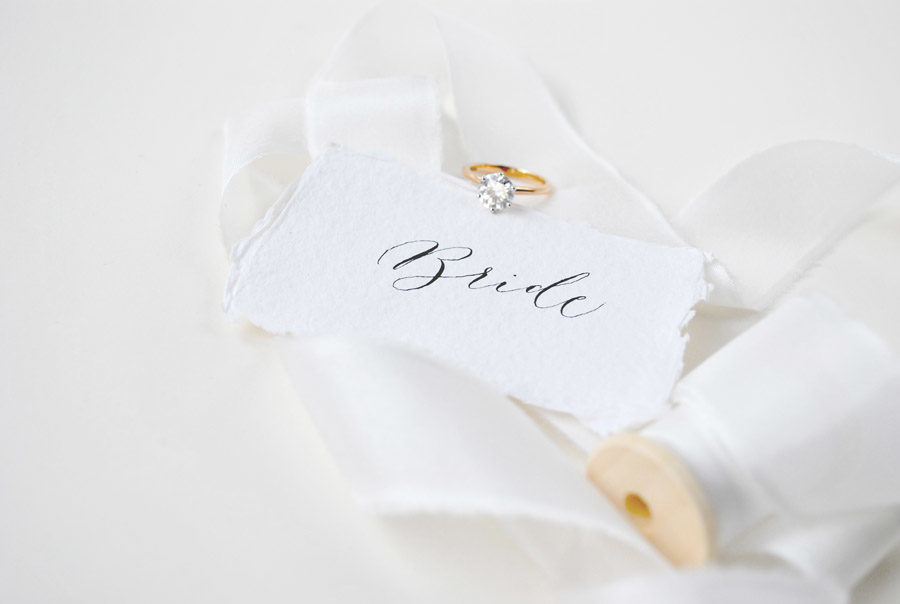 Paper place names from 100% recycled cotton rag - By Moon & Tide Calligraphy
