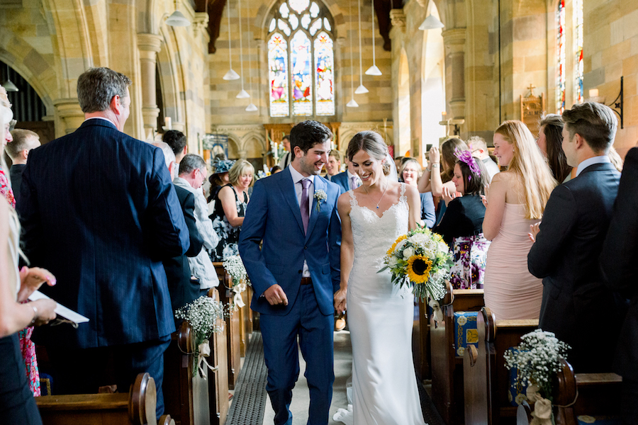 Louisa & Will's light and airy sunflower wedding at Lapstone Barn, with Hannah K Photography (10)