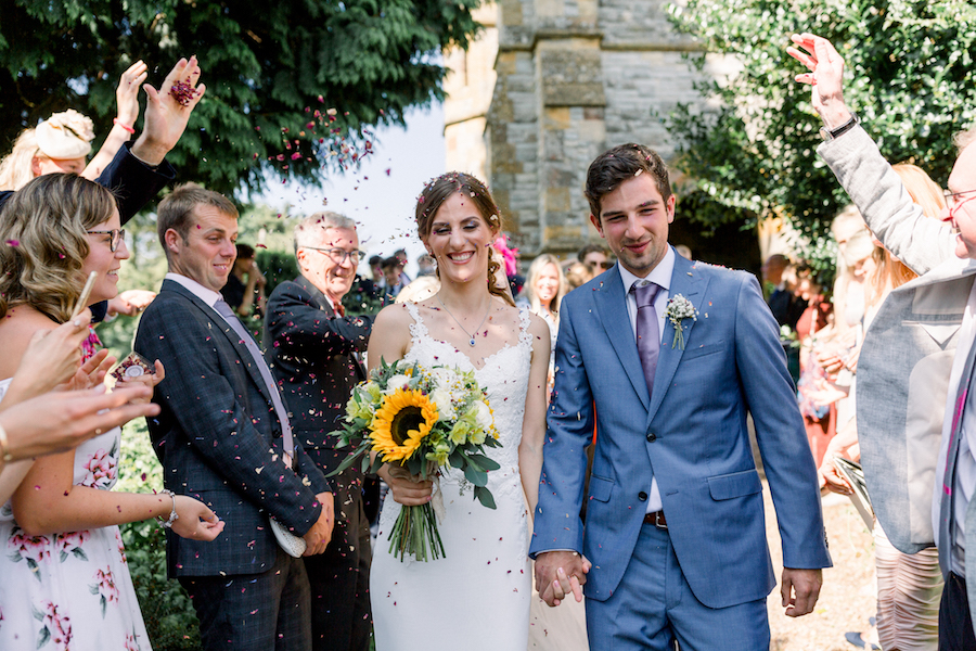 Louisa & Will's light and airy sunflower wedding at Lapstone Barn, with Hannah K Photography (11)