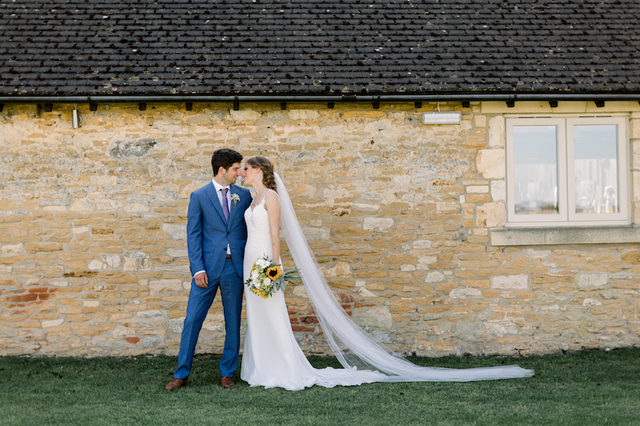 Louisa & Will's light and airy sunflower wedding at Lapstone Barn, with Hannah K Photography (13)
