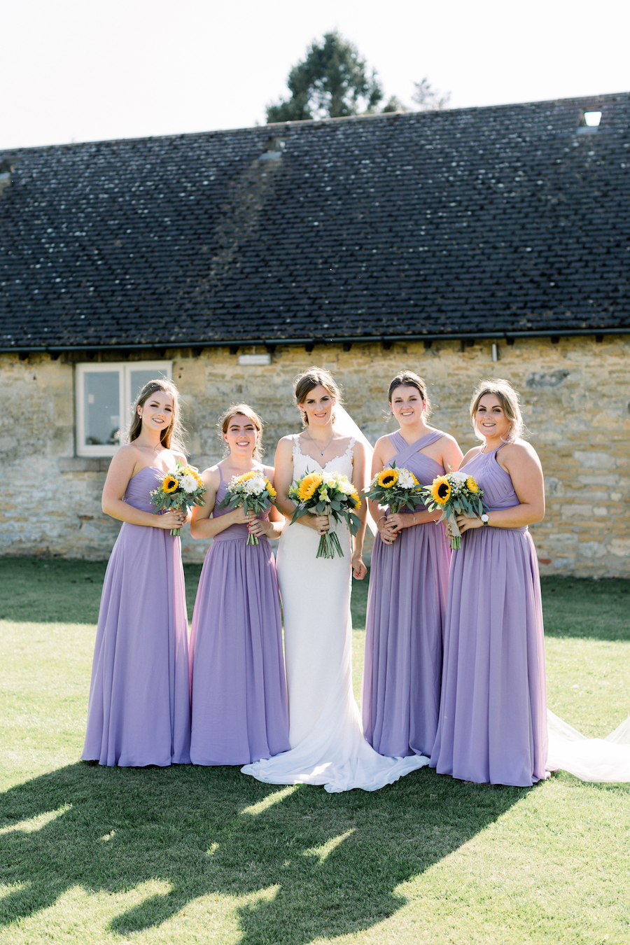 Louisa & Will's light and airy sunflower wedding at Lapstone Barn, with Hannah K Photography (17)