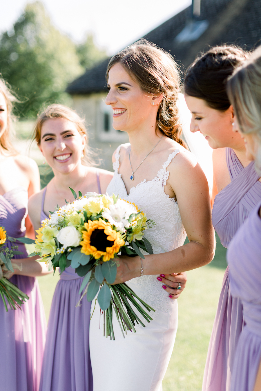 Louisa & Will's light and airy sunflower wedding at Lapstone Barn, with Hannah K Photography (19)