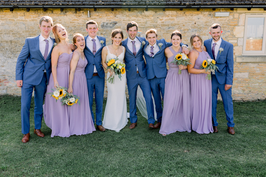Louisa & Will's light and airy sunflower wedding at Lapstone Barn, with Hannah K Photography (20)