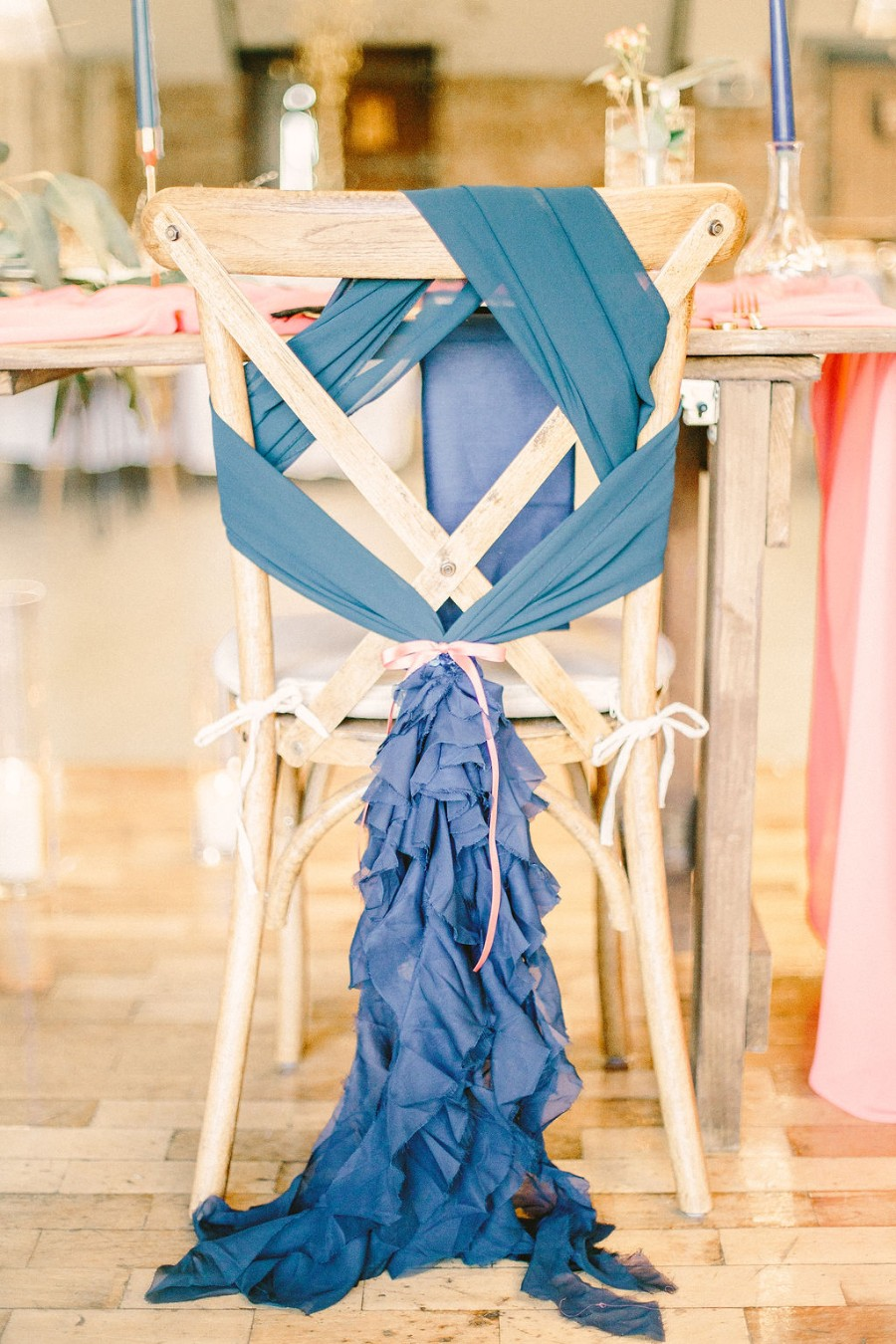 Coral and blue for a colour pop wedding style! Credit Tabitha Stark Photography via English Wedding Blog (33)