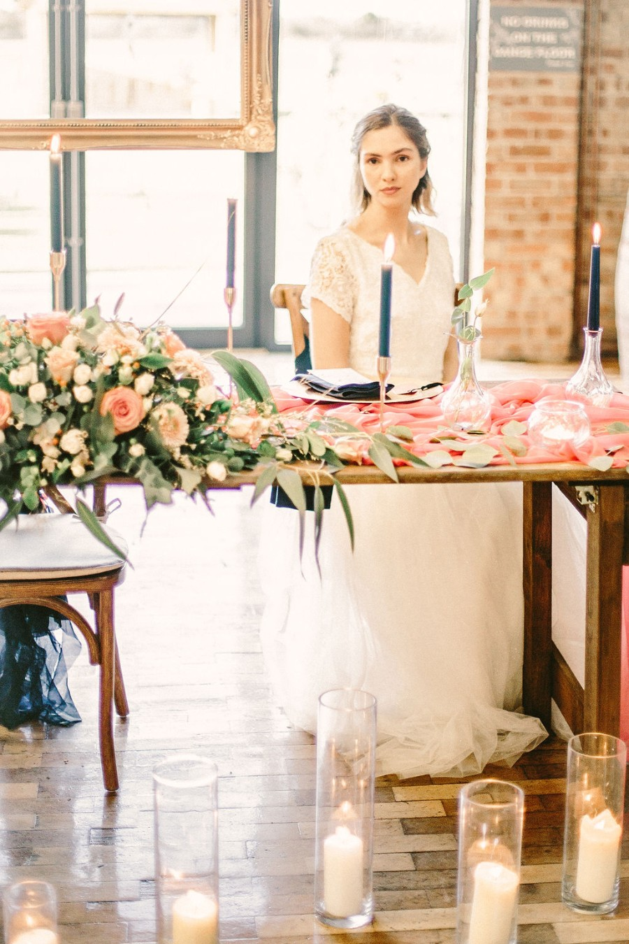 Coral and blue for a colour pop wedding style! Credit Tabitha Stark Photography via English Wedding Blog (35)