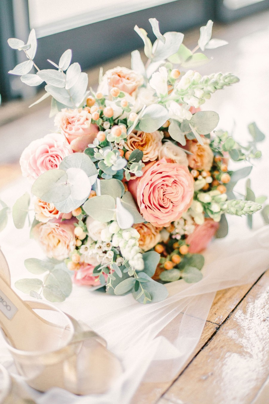 Coral and blue for a colour pop wedding style! Credit Tabitha Stark Photography via English Wedding Blog (6)
