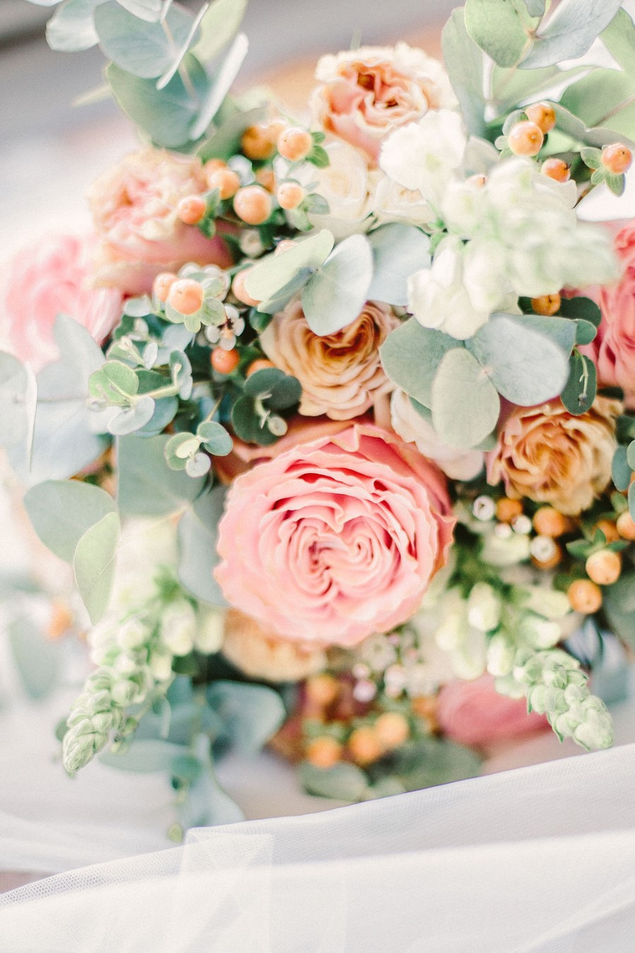 Coral and blue for a colour pop wedding style! Credit Tabitha Stark Photography via English Wedding Blog (7)