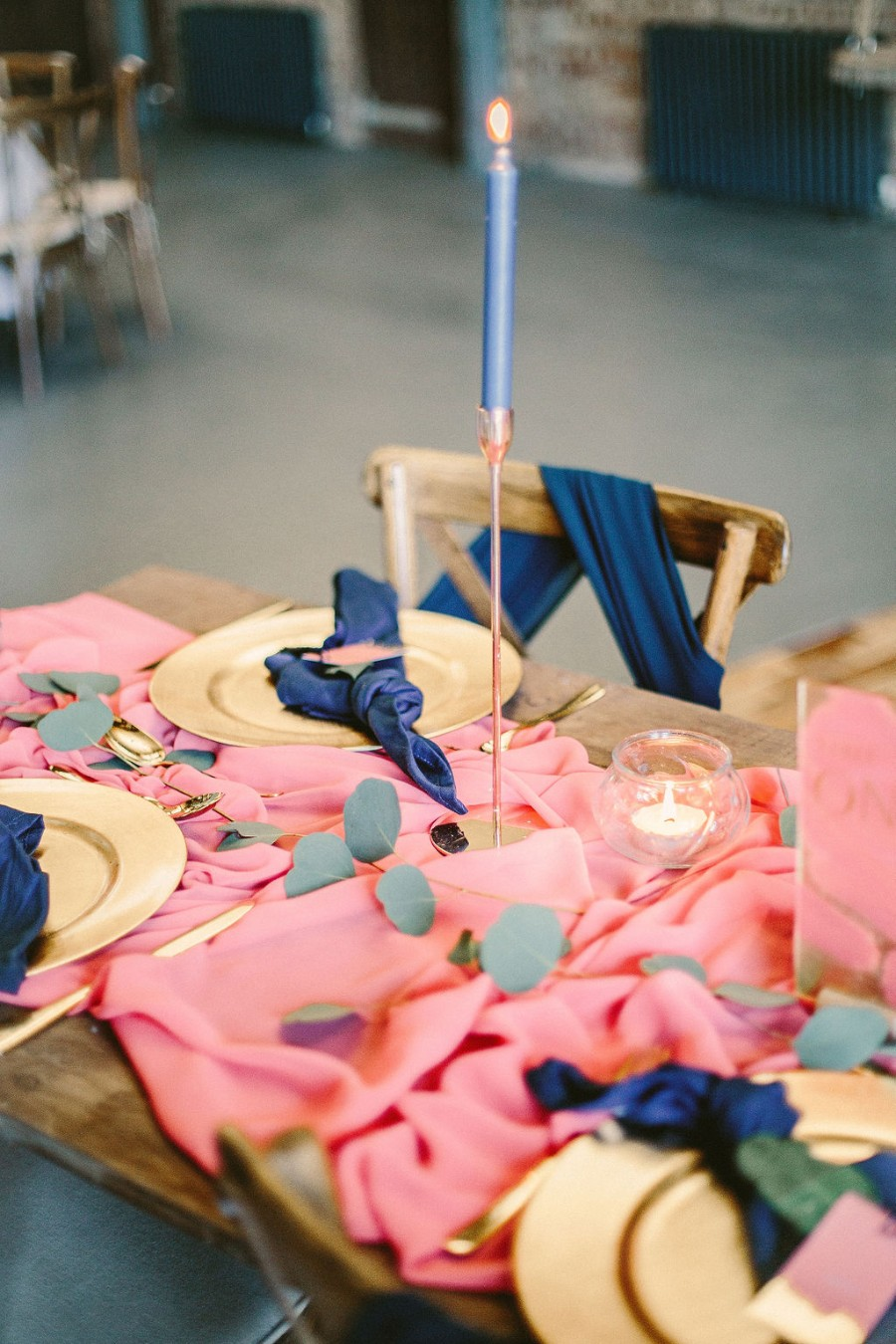 Coral and blue for a colour pop wedding style! Credit Tabitha Stark Photography via English Wedding Blog (8)