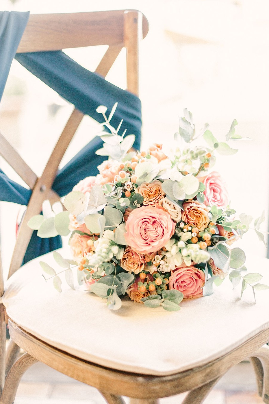 Coral and blue for a colour pop wedding style! Credit Tabitha Stark Photography via English Wedding Blog (12)