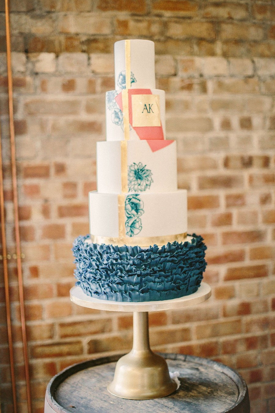 Coral and blue for a colour pop wedding style! Credit Tabitha Stark Photography via English Wedding Blog (13)