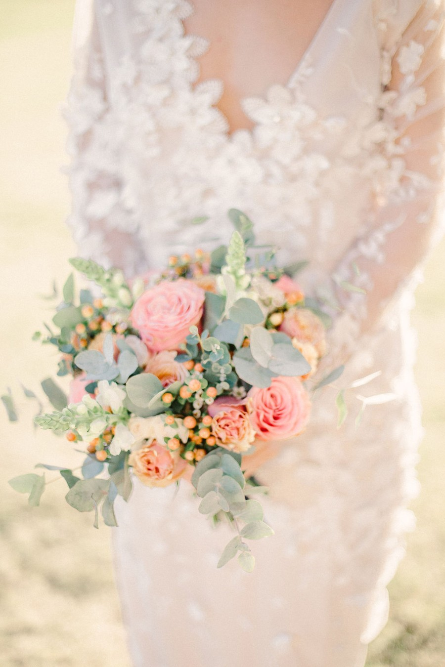 Coral and blue for a colour pop wedding style! Credit Tabitha Stark Photography via English Wedding Blog (19)
