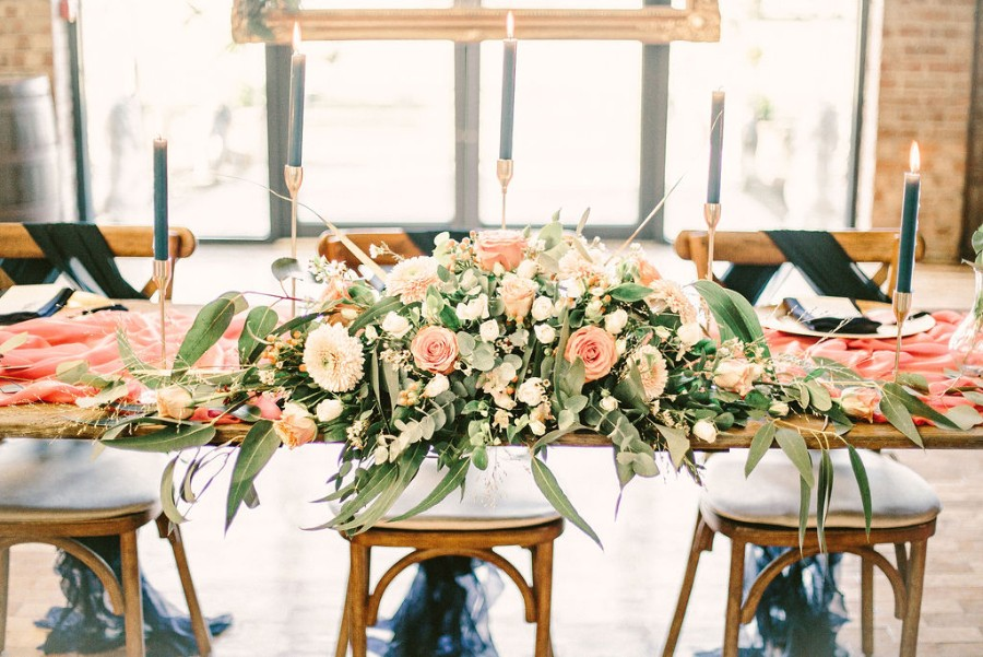 Coral and blue for a colour pop wedding style! Credit Tabitha Stark Photography via English Wedding Blog (27)