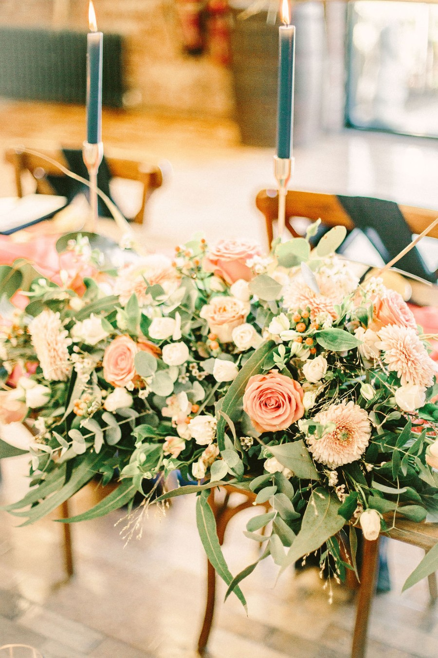 Coral and blue for a colour pop wedding style! Credit Tabitha Stark Photography via English Wedding Blog (28)