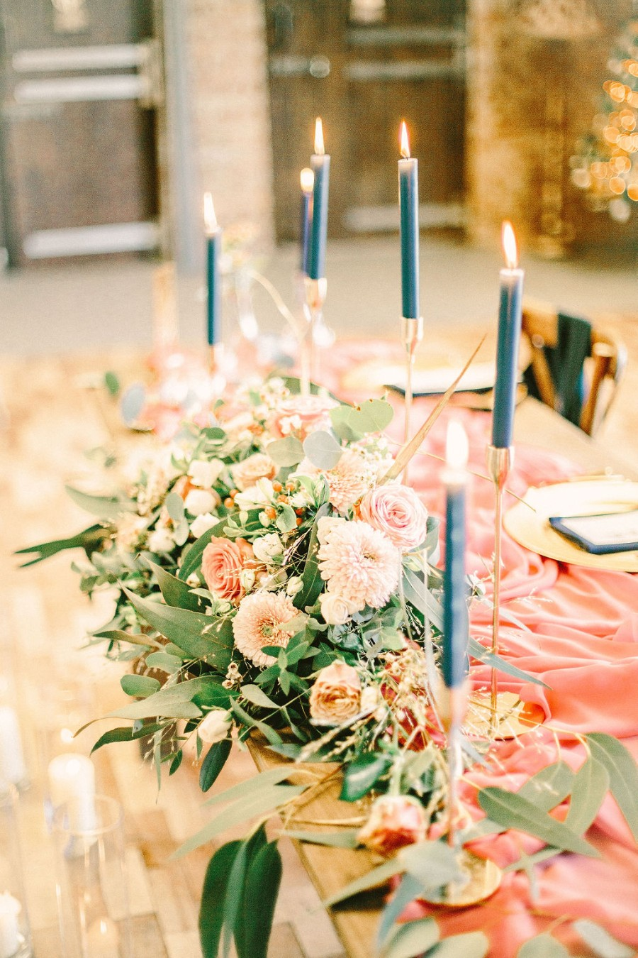 Coral and blue for a colour pop wedding style! Credit Tabitha Stark Photography via English Wedding Blog (31)