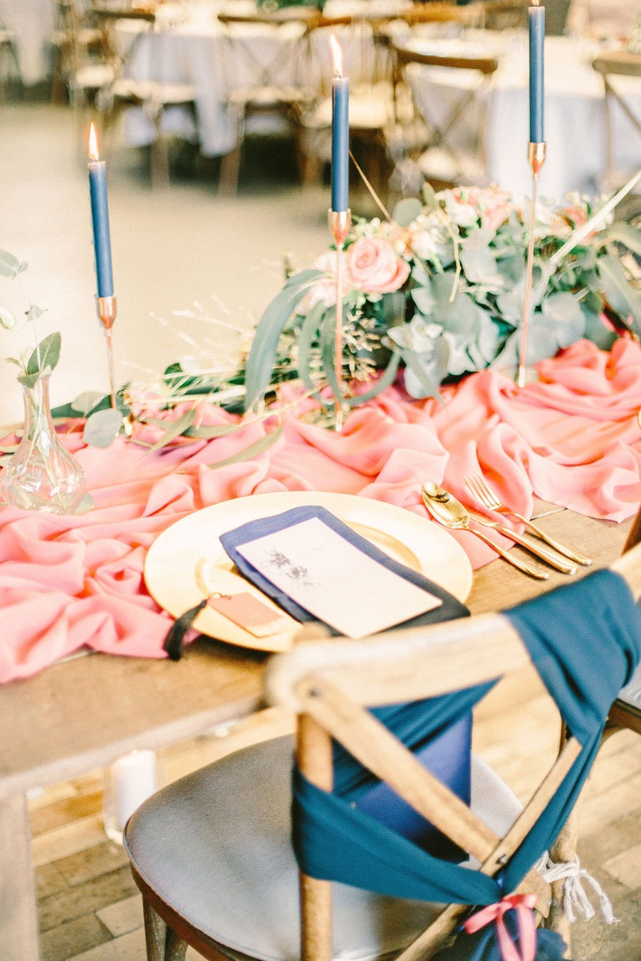Coral and blue for a colour pop wedding style! Credit Tabitha Stark Photography via English Wedding Blog (32)
