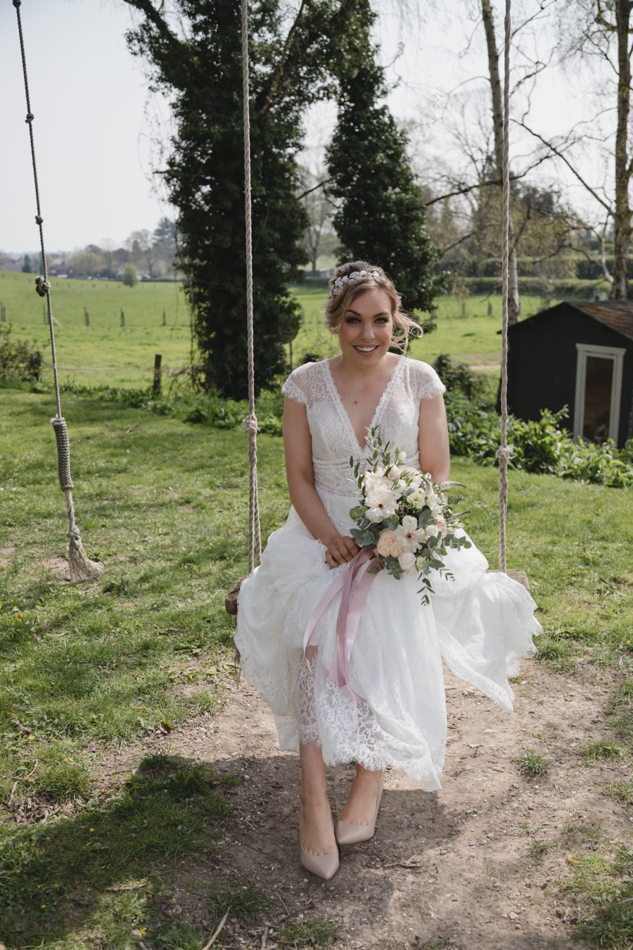 Quintessentially beautiful English wedding style with blush florals (4)