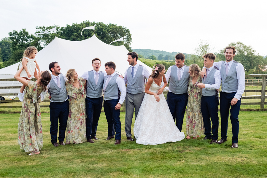 Sophie & Elliot's bright and beautiful wedding in an English country garden, with Andy Li Photography (40)