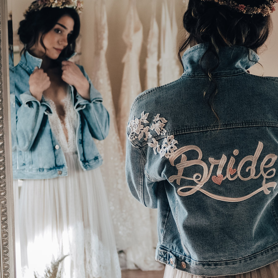 Your names on your veil, denim jacket or boots! With Bridal Indulgence (3)