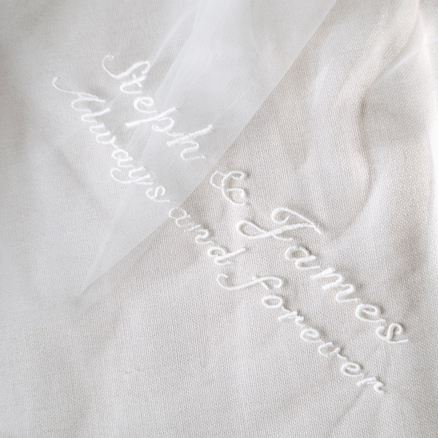 Your names on your veil, denim jacket or boots! With Bridal Indulgence (10)