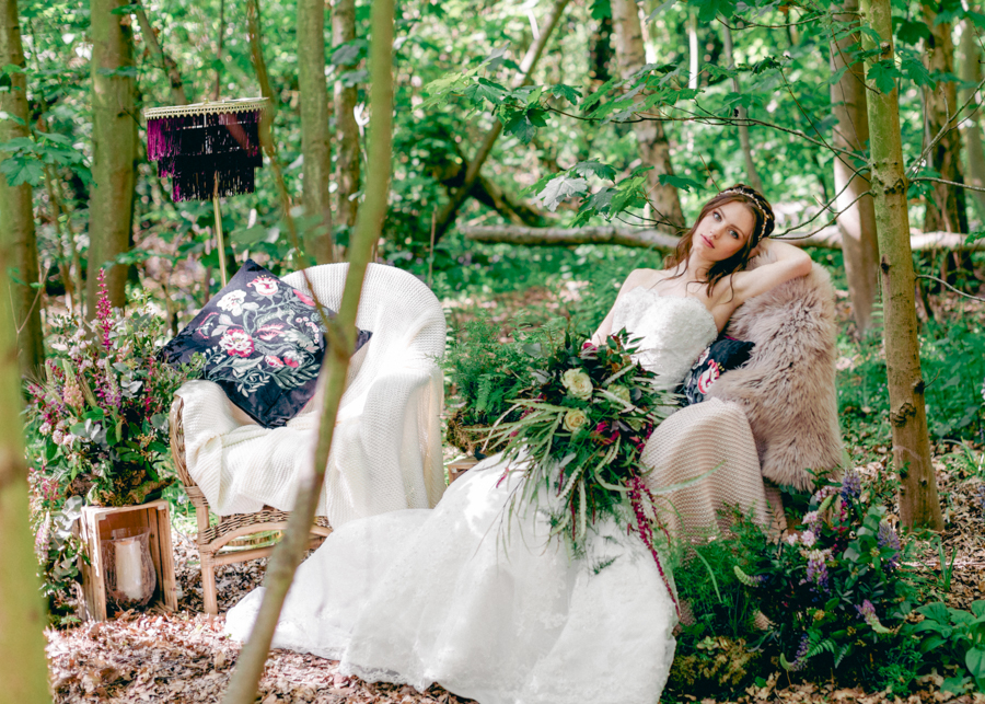 Styled boho woodland shoot in Essex, image credit Hayley Jane Photography (21)