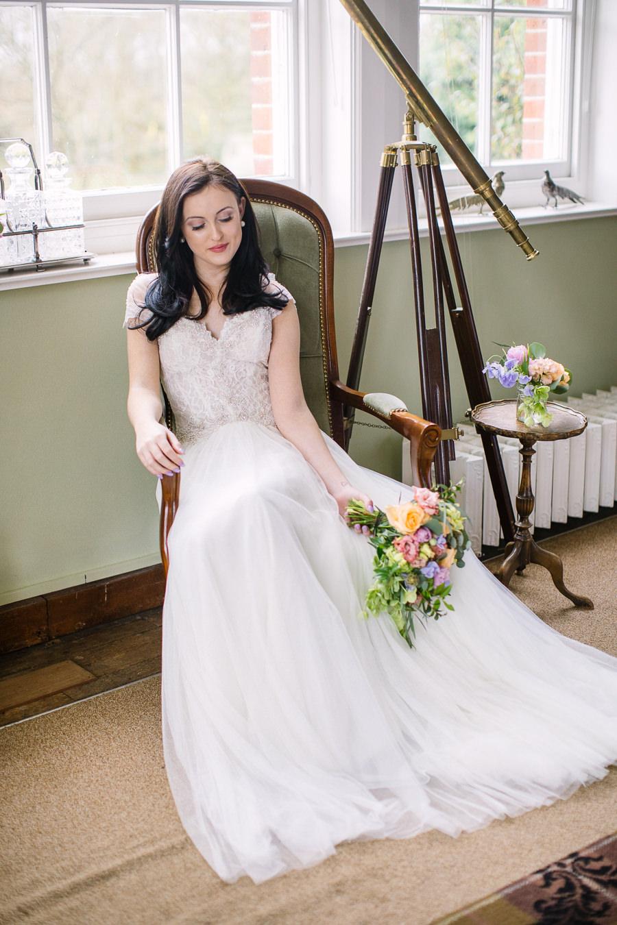 'Understated Elegance' Spring Styled Hampshire Bridal Shoot – Rownhams House, photo credit Nisha Haq Photography (5)