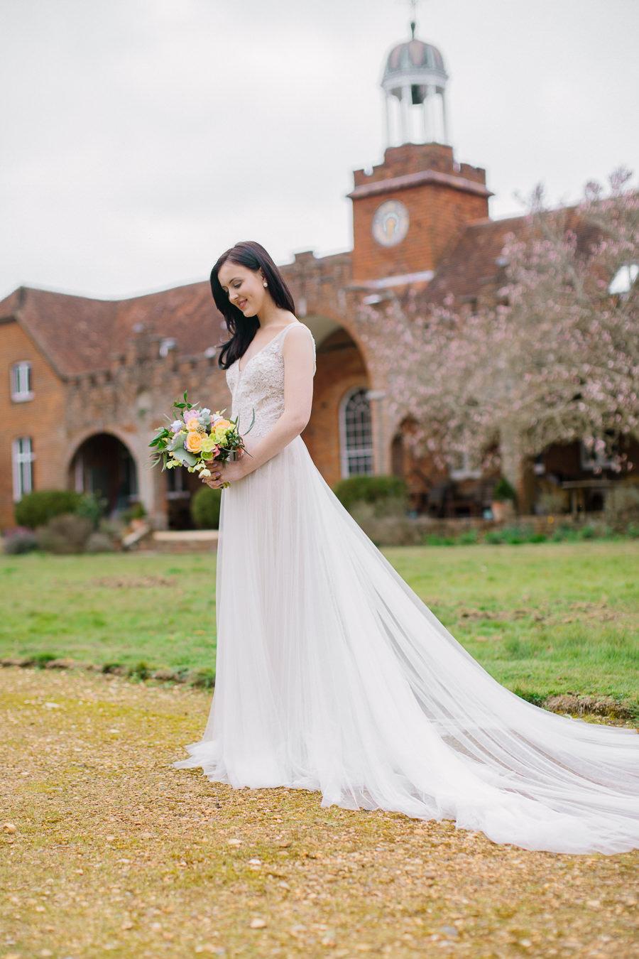 'Understated Elegance' Spring Styled Hampshire Bridal Shoot – Rownhams House, photo credit Nisha Haq Photography (12)