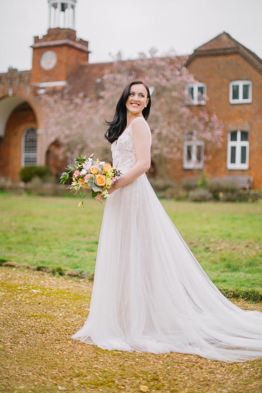 'Understated Elegance' Spring Styled Hampshire Bridal Shoot – Rownhams House, photo credit Nisha Haq Photography (14)