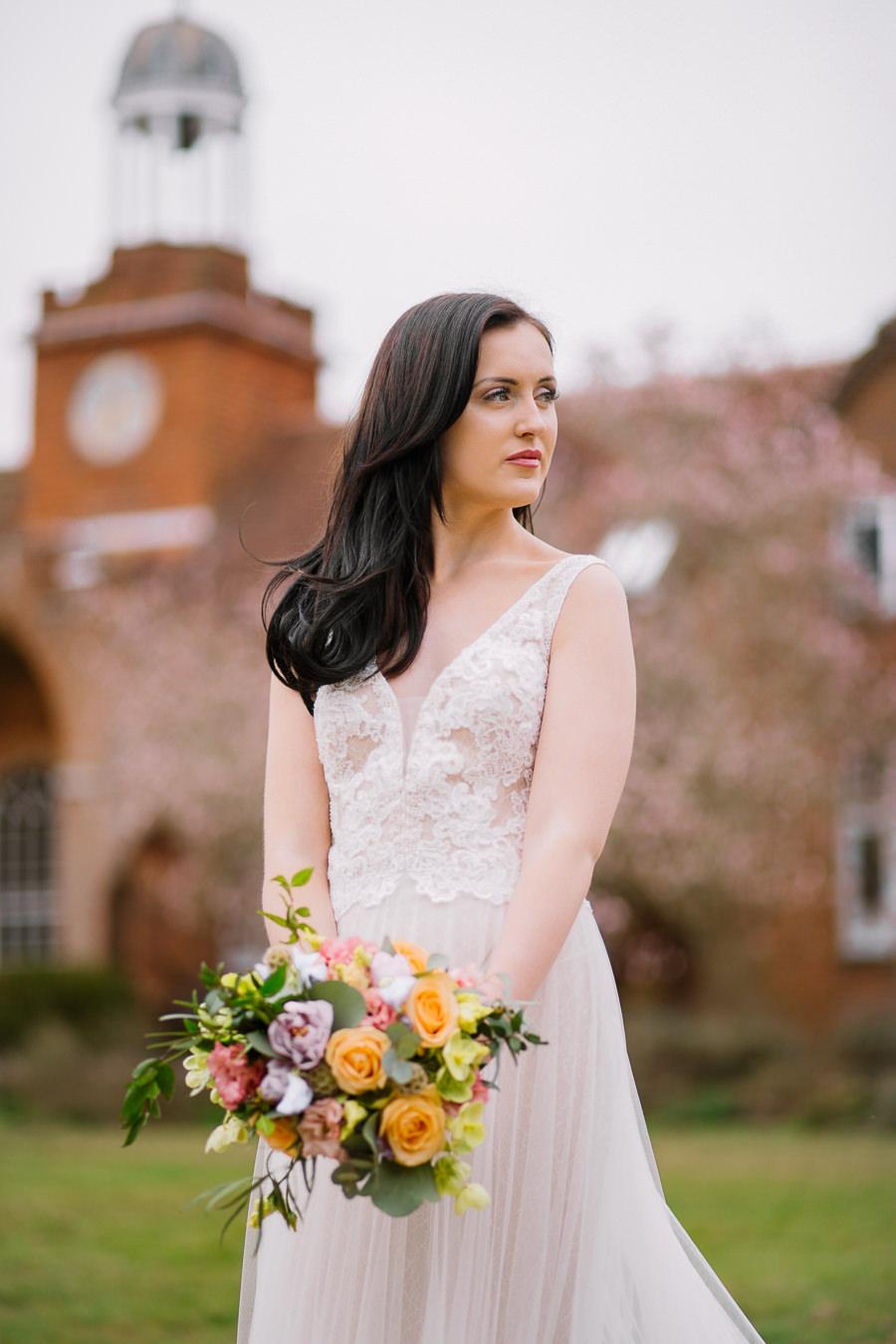 'Understated Elegance' Spring Styled Hampshire Bridal Shoot – Rownhams House, photo credit Nisha Haq Photography (15)