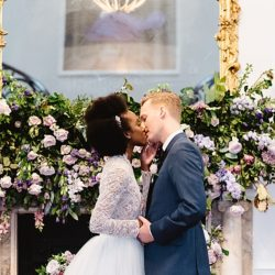 Chic and contemporary London wedding style with amazing florals