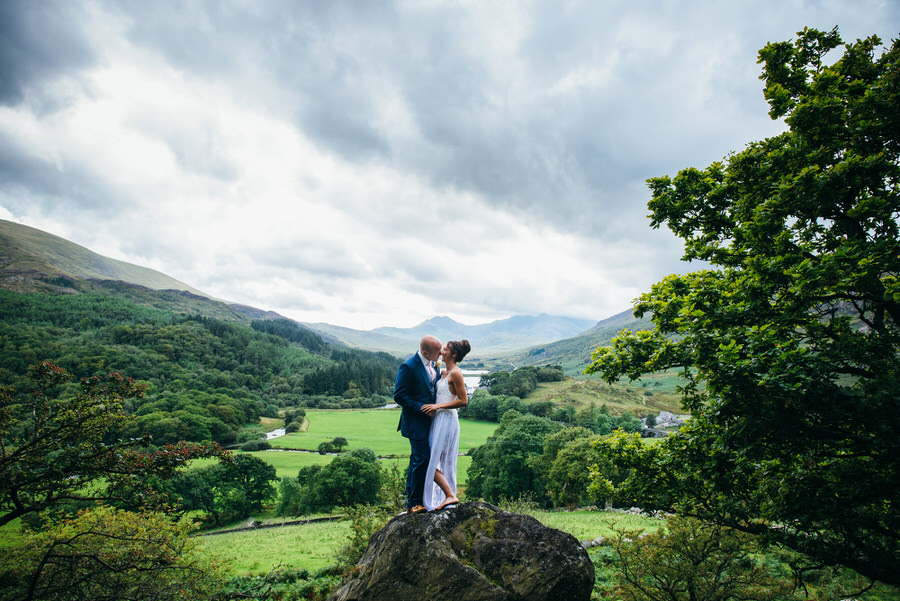 SJ and Dan find the perfect viewpoint up in the Welsh mountains by Simon Biffen Photography