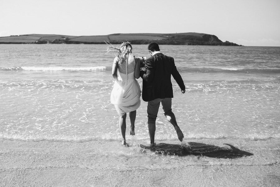 Jo and Dave go for a paddle at Daymer Bay Cornwall by Simon Biffen Photography