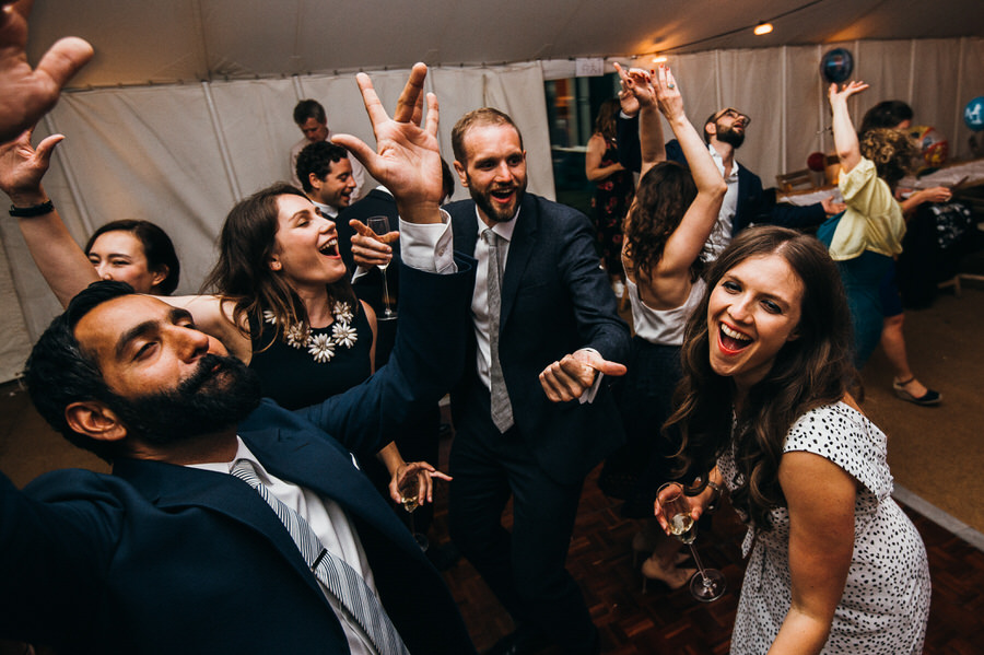 Wedding guests hit the dancefloor by Simon Biffen Photography
