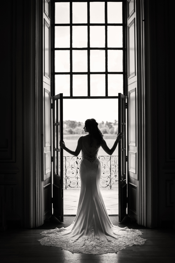 Bride at Kimbolton Castle by October James Photography