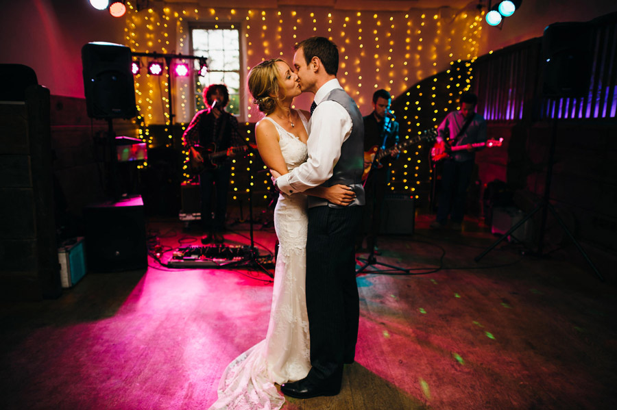 first dance kiss captured by Simon Biffen Photography