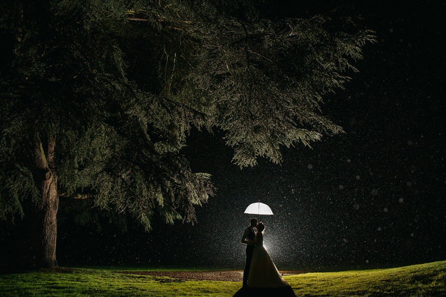 Night time wedding photography by John Hope Photography