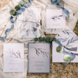 Soft blue tones for a French Chateau wedding style, with Jo Bradbury Photography