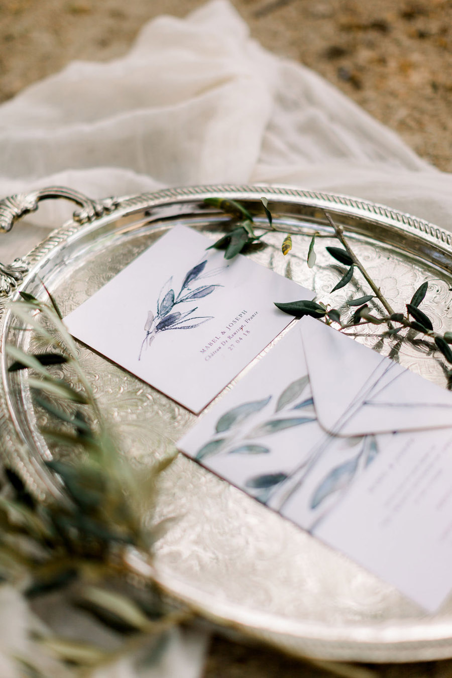 Soft blue tones for a French Chateau wedding style, with Jo Bradbury Photography (1)
