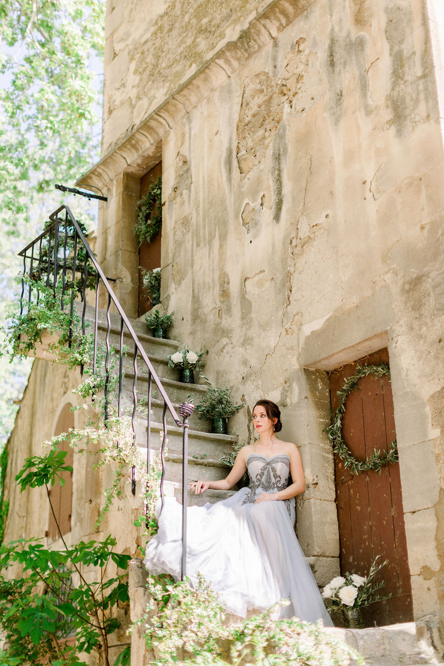 Soft blue tones for a French Chateau wedding style, with Jo Bradbury Photography (13)