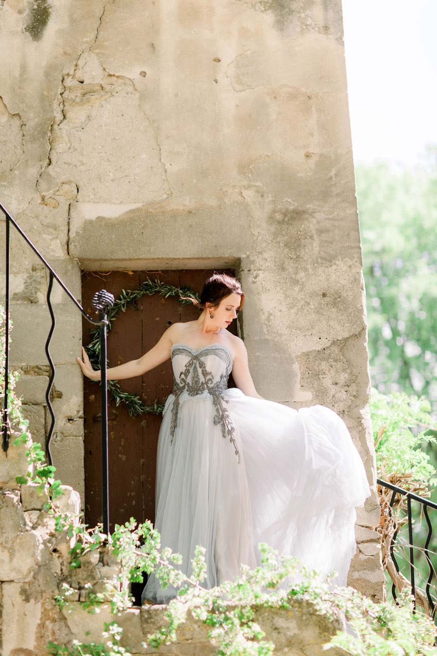 Soft blue tones for a French Chateau wedding style, with Jo Bradbury Photography (15)