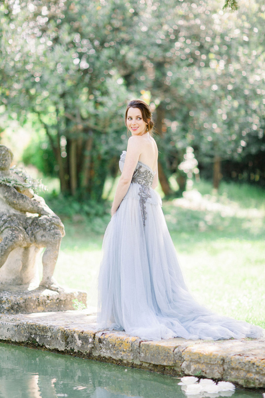 Soft blue tones for a French Chateau wedding style, with Jo Bradbury Photography (25)