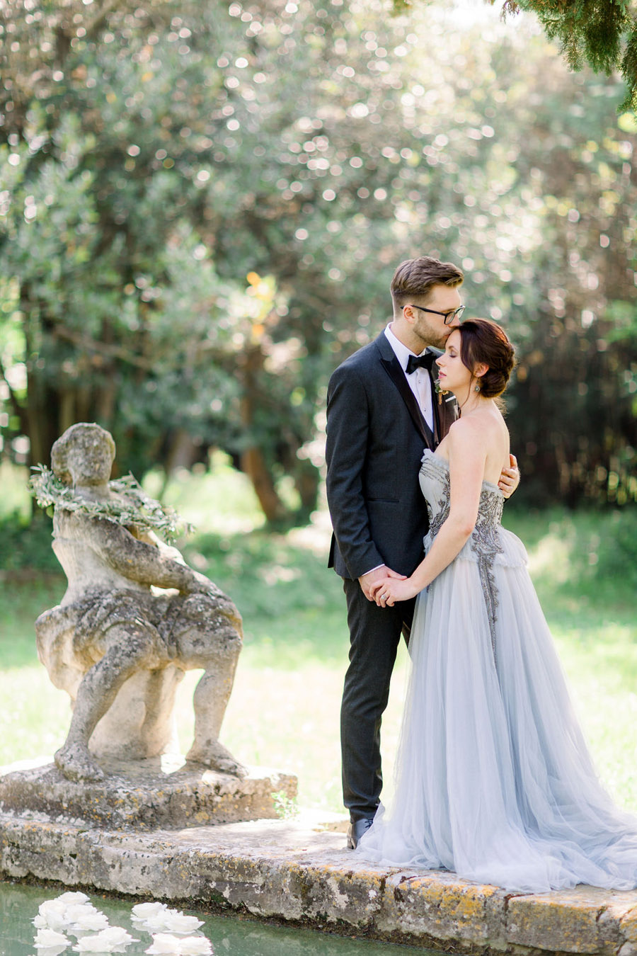 Soft blue tones for a French Chateau wedding style, with Jo Bradbury Photography (27)