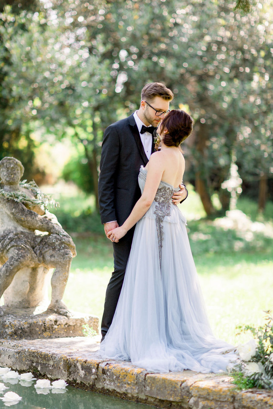 Soft blue tones for a French Chateau wedding style, with Jo Bradbury Photography (28)