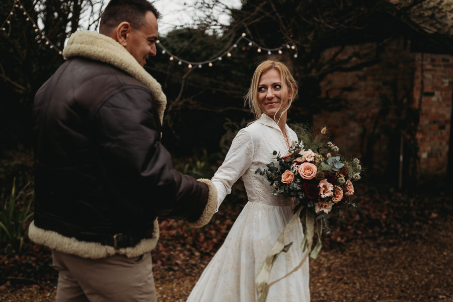 Enchanted garden vintage elopement with Thyme Lane Photography (11)