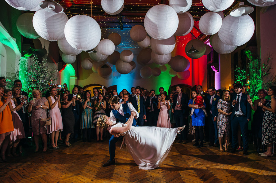 epic drop for a couple's first dance, image by Simon Biffen Photography