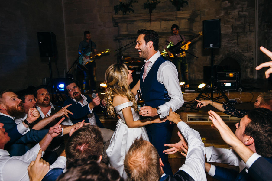 guests joining in for the first dance, image by Simon Biffen Photography