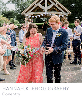 Coventry and UK wedding photographer Hannah K Photography